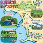 イラストマップ 葉山 山口蓬春記念館周辺