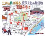 浅草江戸庶民文化マップ