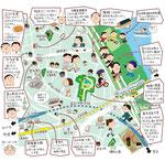 牛田 堀切 イラストマップ