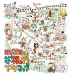 谷根千イラストマップ