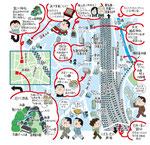 拝島イラストマップ