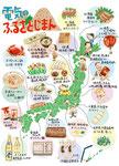 全国特産品イラストマップ