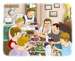 家族 食卓 団欒