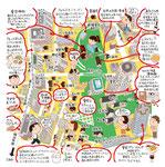 愛宕神谷町イラストマップ