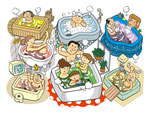 家族 家庭 家族 お風呂
