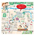 武蔵小金井イラストマップ