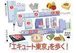 エキュート東京店舗マップ