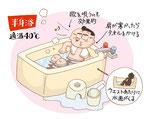 家族 家庭 家庭 入浴