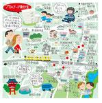 東伏見イラストマップ