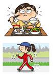 家族 家庭 家庭 食事 運動