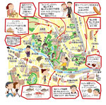 江戸川橋 文京区 イラストマップ