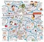 阿佐ケ谷イラストマップ