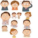 会社 オフィス 仕事  職業タイプ 表情