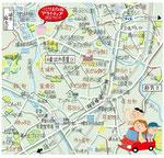 あざみ野イラストマップ