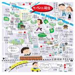 武蔵境 桜堤 イラストマップ