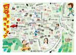 四谷イラストマップ