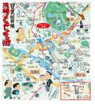目黒駅 イラストマップ