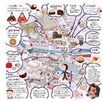 日本橋 三越前 イラストマップ