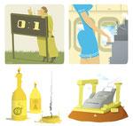 illustraties voor SNS bank