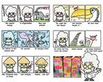 character design en strips voor Campina toetjespraat