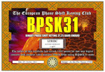 Binary Phase Shift Keying 31.25 Baud Award 1000p