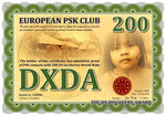 PSK contacts with 200 DX Territories World Wide