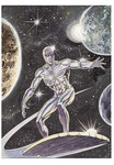 Silver Surfer. Illustrazione.