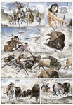 Tokae. Caccia al bisonte. Tav.3 di 4