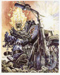 Ghost Rider. Illustrazione.