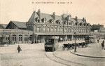 La gare de St Quentin construite en 1887 et détruite par un incendie en 1921. (Coll part.)