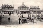 La gare de Dunkerque mise en service en 1876. Détruite durant le Seconde Guerre. (Coll. JPL)