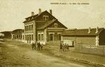 Gare de Bapaume sur la ligne Achiet - Bapaume - Marcoing. REn service de 1871 à 1955. (Coll. MB)