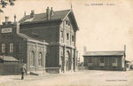 La gare de Lourches construite en 1857. Elle sera détruite en 1918 par les Allemands. (Coll. part.)