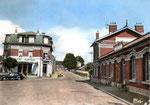La gare de Lourches dans les années 50/60. Elle sera démolie en 2010. (Coll. MB)