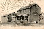 La gare de Masnières, terminus de l'antenne Marcoing - Masnières. (Coll. MB)