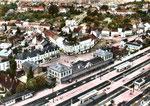 Vue aérienne de la gare; (Coll. MB.)