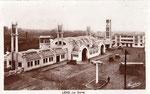 La gare de Lens conçue par l'architecte Urbain Cassan et inaugurée le 14 aoüt 1927. (Coll. JPL)