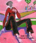 Edith, huile sur toile 55*46