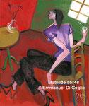 Mathilde, huile sur toile; 55*46