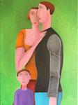 le couple et l'enfant, 81*60