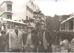 А.Сасс, Б.Дубровский, Б.Кузьмин перед отлётом в Японию. 1964 год. Южно-Сахалинск