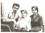 Б.Дубровский с женой Евгенией и сестрой Марией.