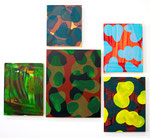 Camo paintings installation, sizes variable, mixed media on canvas. 2015