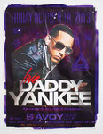 """Daddy Yankee"", 19"" x 25"". Acrylic on found poster. 2013."