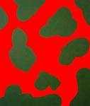 """Untitled"". 46"" x 54"". Acrylic on linen. 2013."