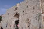 A SHELL AND BULLET-SPATTERED ZION GATE IN THE OLD CITY OF JERUSALEM  © DA-B