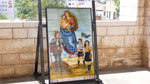 A TILED ILLUSTRATION, REPRESENTING OUR LADY, QUEEN OF SCOUTS AND GUIDES, IN NAZARETH  © DA-B