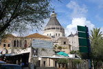 THE BASILICA OF THE ANNUNCIATION RISES BEHIND EARLIER BUILDINGS IN NAZARETH  © DA-B