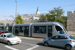 THE NEW LIGHT RAILWAY SKIRTS THE OLD CITY IN JERUSALEM  © DA-B