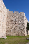 THE OLD CITY WALL BETWEEN NEW GATE AND JAFFA GATE IN JERUSALEM  © DA-B
